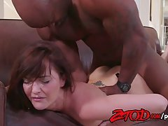 Bianca Breeze is having steamy sex with a black guy she likes a lot
