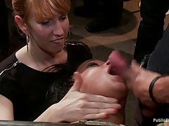Skin Diamond is getting fucked while her legs are tied up in a spread possition