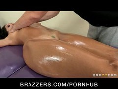 Ava Addams is getting a relaxing massage from her employee that turns into sex in the office